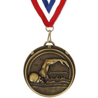Target50 Swimming Medal with RWB</br>AM992R.12